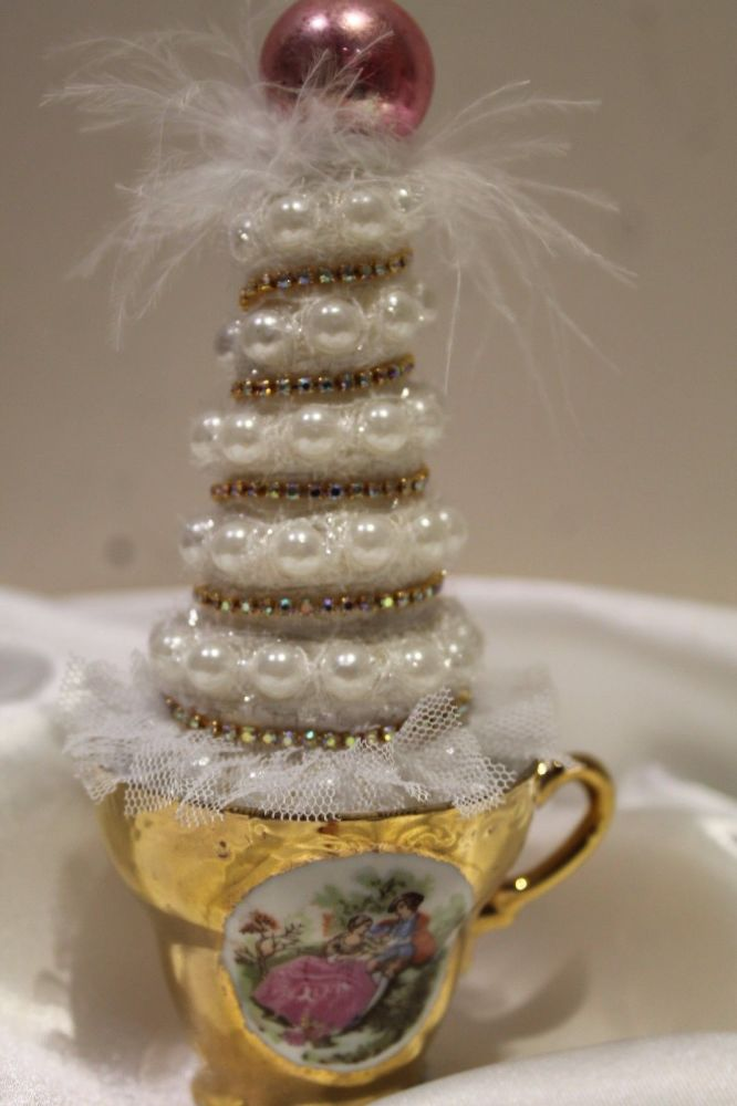Shabby Chic Vintage Tea Cup Christmas Tree