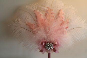 Ostrich Feather Fan Wedding Pen