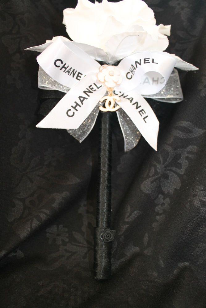 Designer White Rose Flower Pen