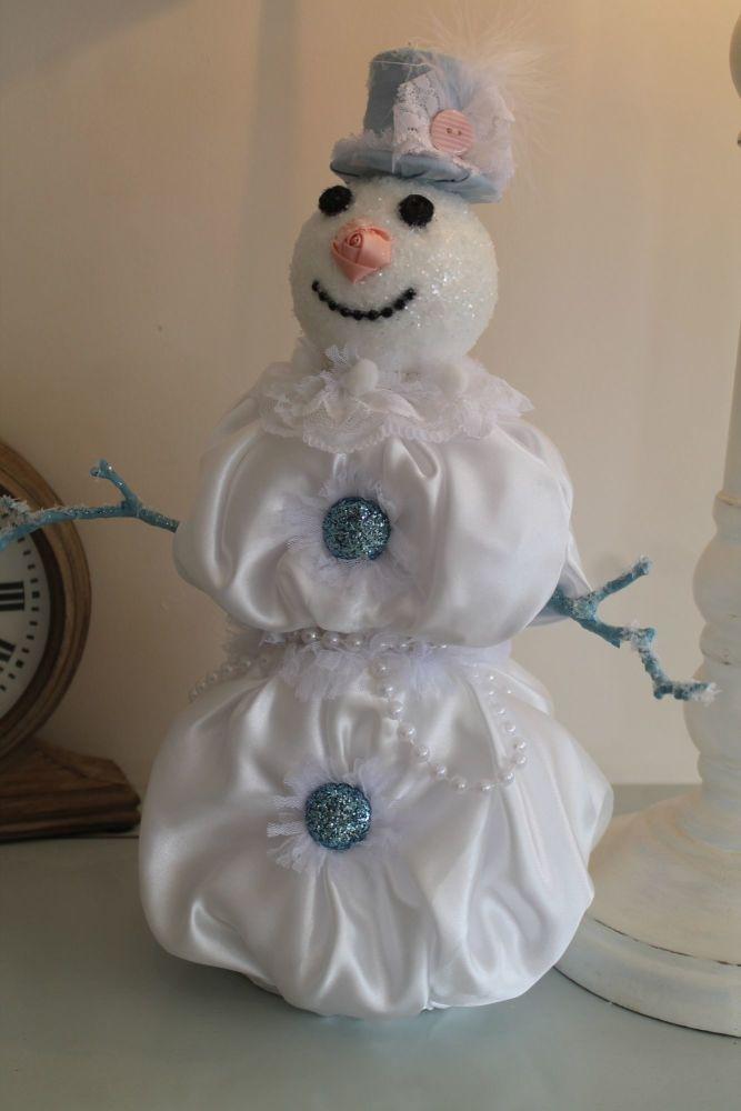 Shabby Chic Christmas Snowman