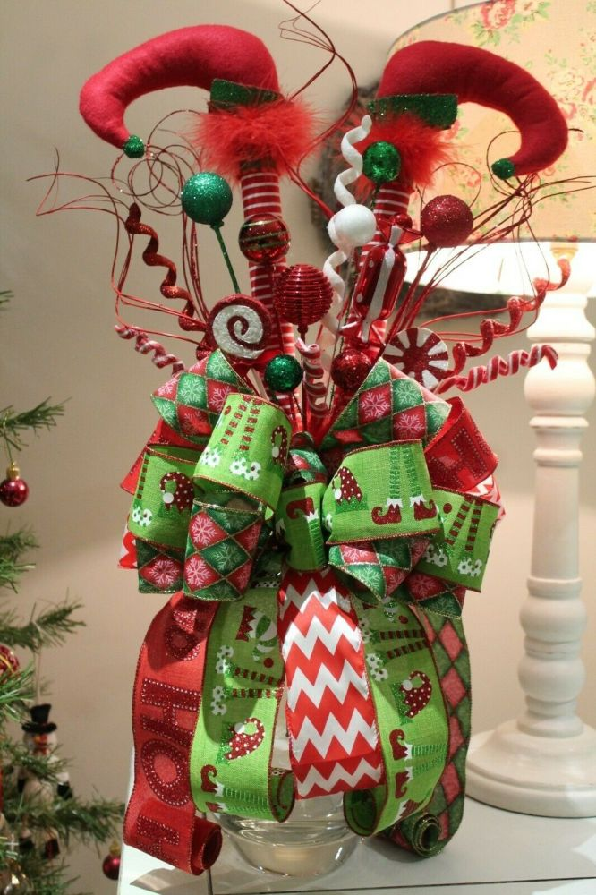 Whimsical Christmas Elf legs tree topper New Product