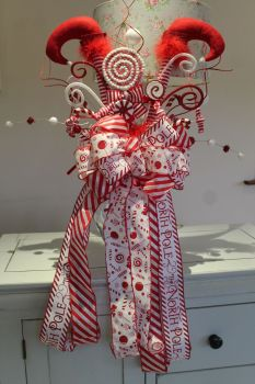 Candy Elf Legs Tree Topper