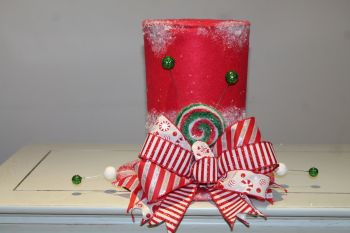Candy Top Hat Christmas Tree Topper
