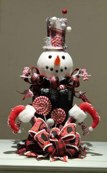 Snowman Top Hat Centrepiece