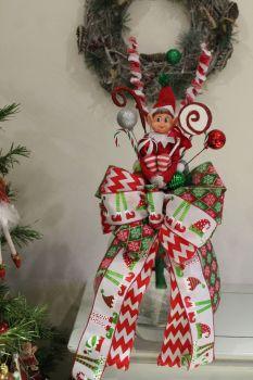 Sitting Elf Christmas Tree Topper
