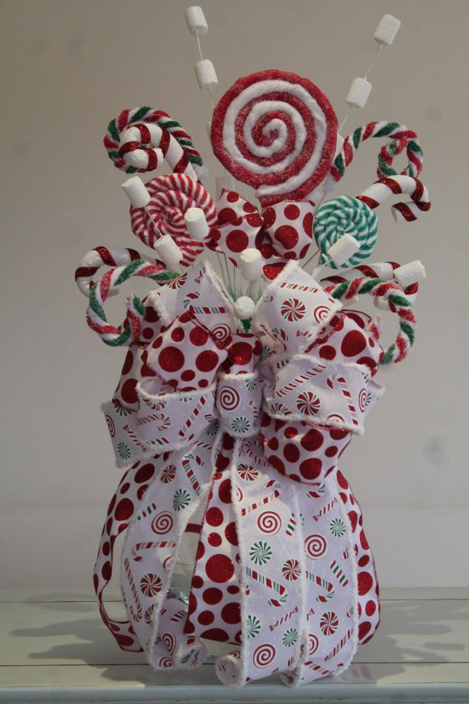 Candy Christmas Tree Topper