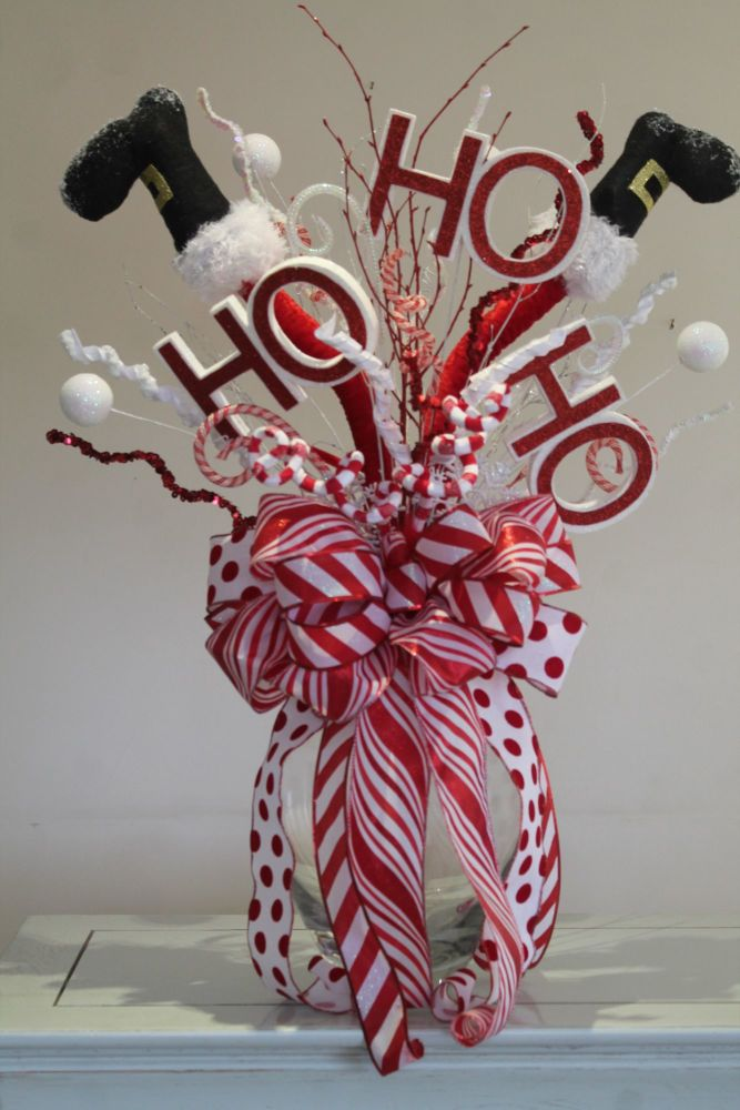 Santa Legs Christmas Tree Topper