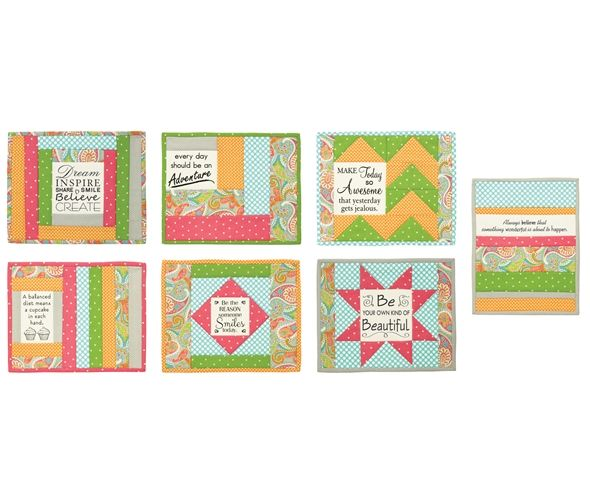 Quilt As You Go - Inspirational Mug Mats