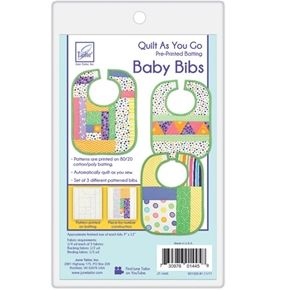 Quilt As You Go - Baby Bibs