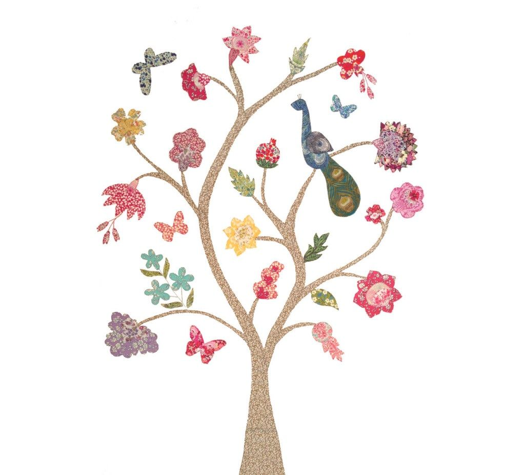 Liberty Tree of Life Applique Wall Hanging
