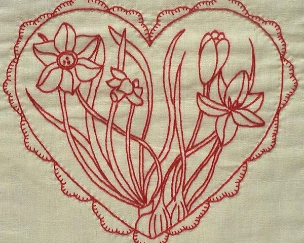 Beginners Redwork Embroidery