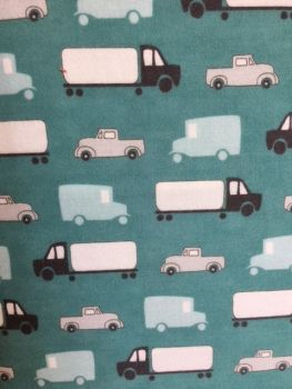 Mighty Machines - Trucks and Cars - Moda - Brushed Cotton -