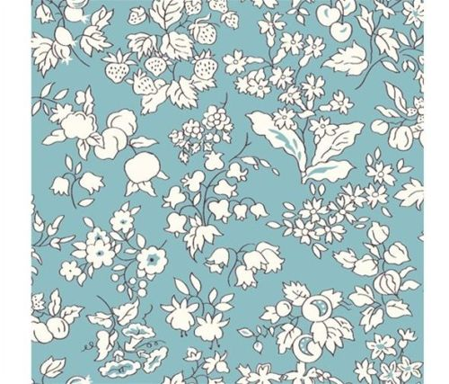 The Orchard Garden -  Fruit Silhouette - Turquoise - Liberty - EQS