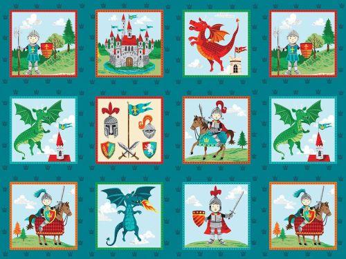 Makower Dragonheart fabric - Labels