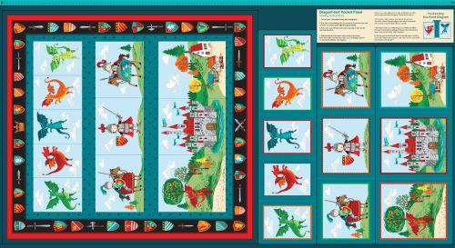 Makower Dragonheart fabric - pocket panel