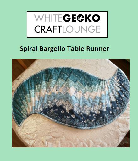 Spiral Bargello Table Runner