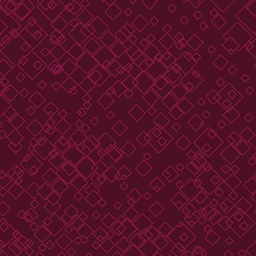 Benartex - Dog On It - Tonal Squares Raspberry