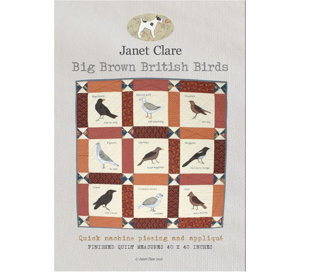 Janet Clare's Big Brown British Birds (JC118)