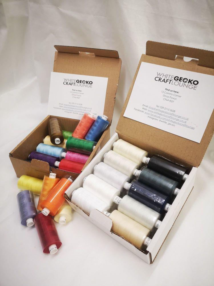 Coats Moon Thread Set - 20 reels (1000 yrds per reel)  - Colour set