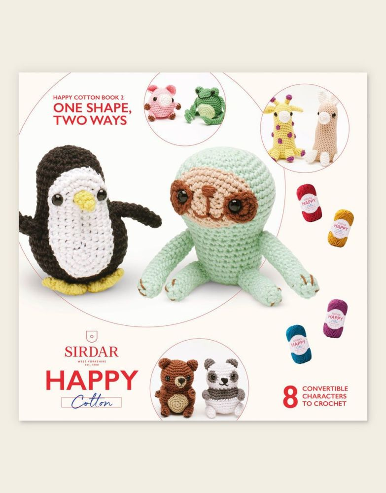 Sirdar Happy Cotton Book - One Shape, Two Ways
