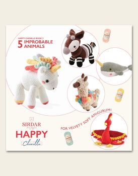 Sirdar Happy Chenille Book - Improbable Animals
