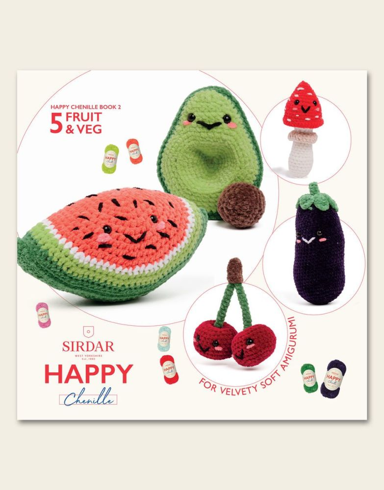 Sirdar Happy Chenille Book - Fruit & Veg