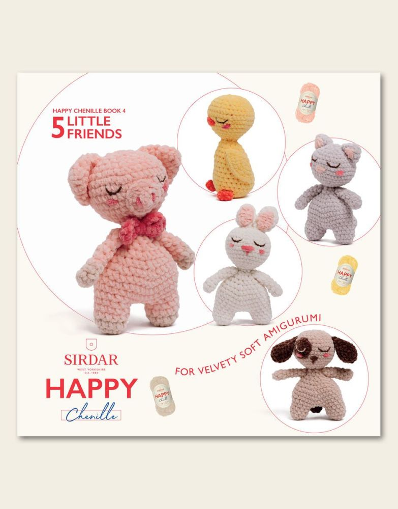 Sirdar Happy Chenille Book - Little Friends