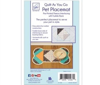 Quilt As You Go - Pet Placemat Dog