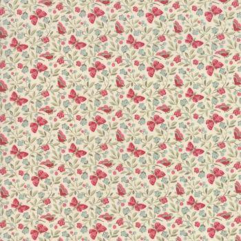 Moda Le Beau Papillon Rouge Fabric 13864 12