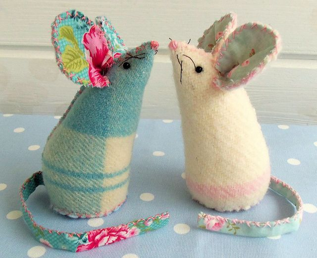 Pin cushion Mouse template