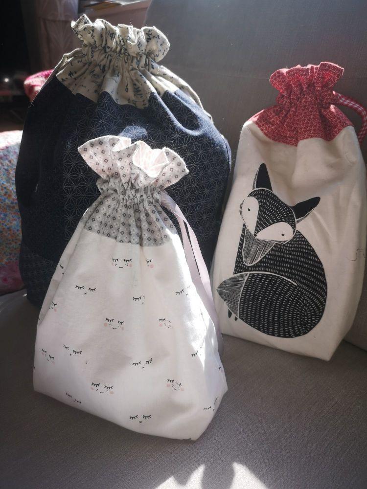 Lined Drawstring Bag Pattern