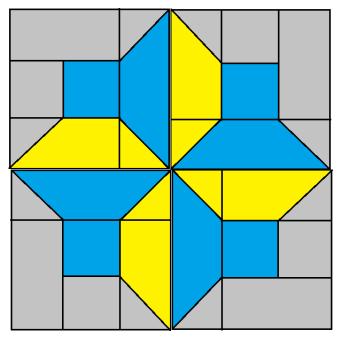 Spinning Top Block pattern