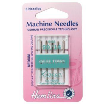 Hemline Machine Needles Quilting Size - 90/14