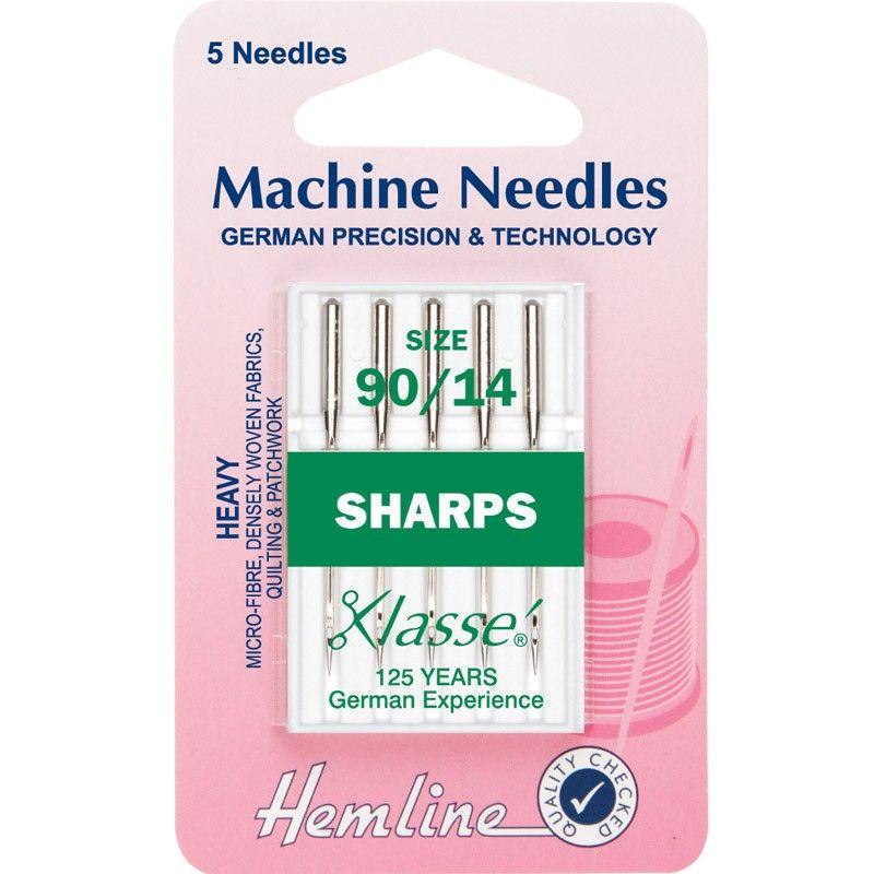 Hemline Machine Needles Sharps Size - 90/14