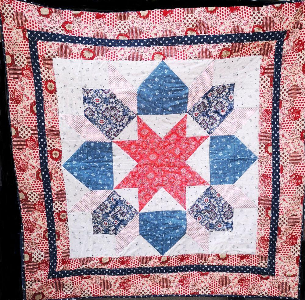 Cosmic Star Quilt Pattern