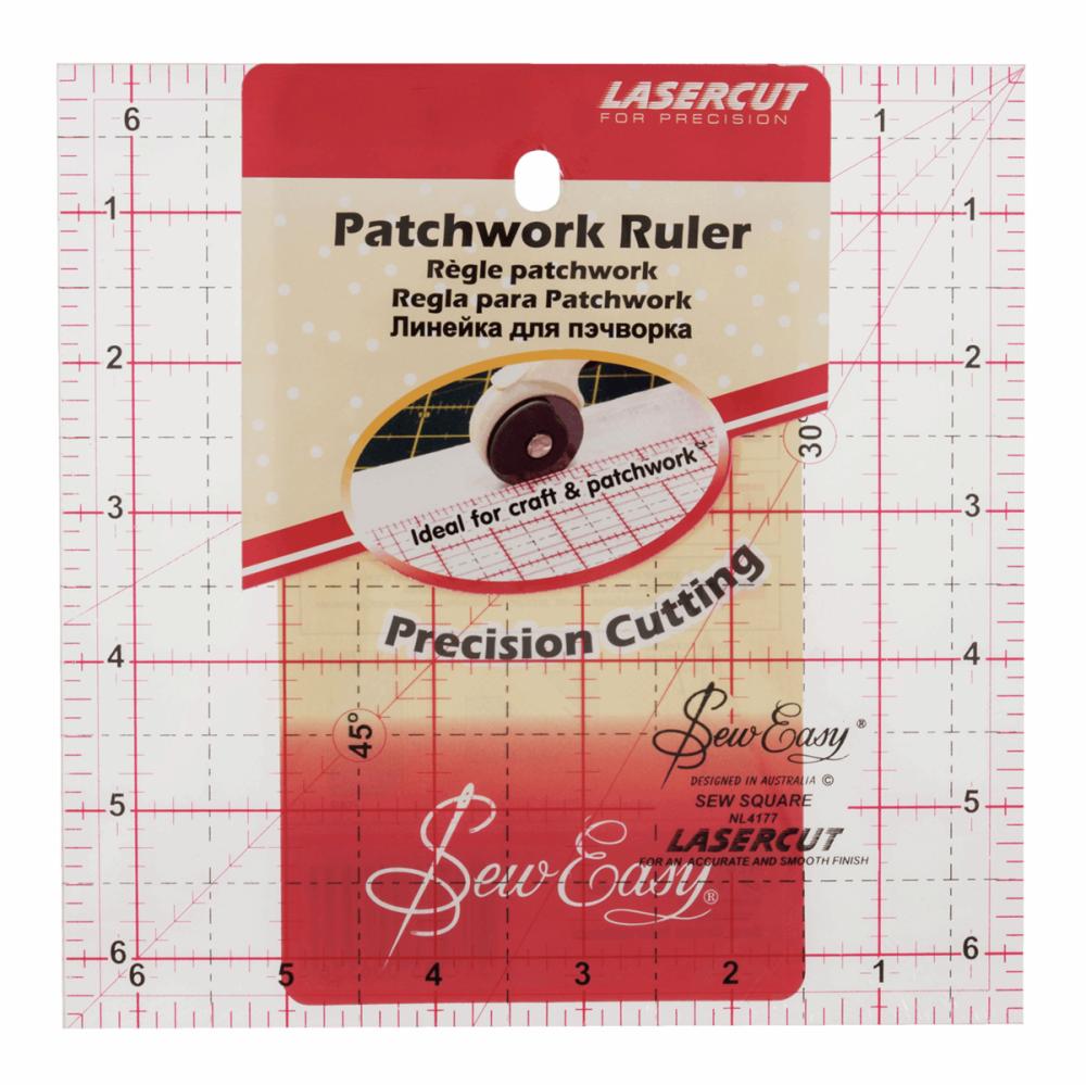 Sew Easy - Lasercut - Patchwork ruler - 6.5inch X 6.5inch