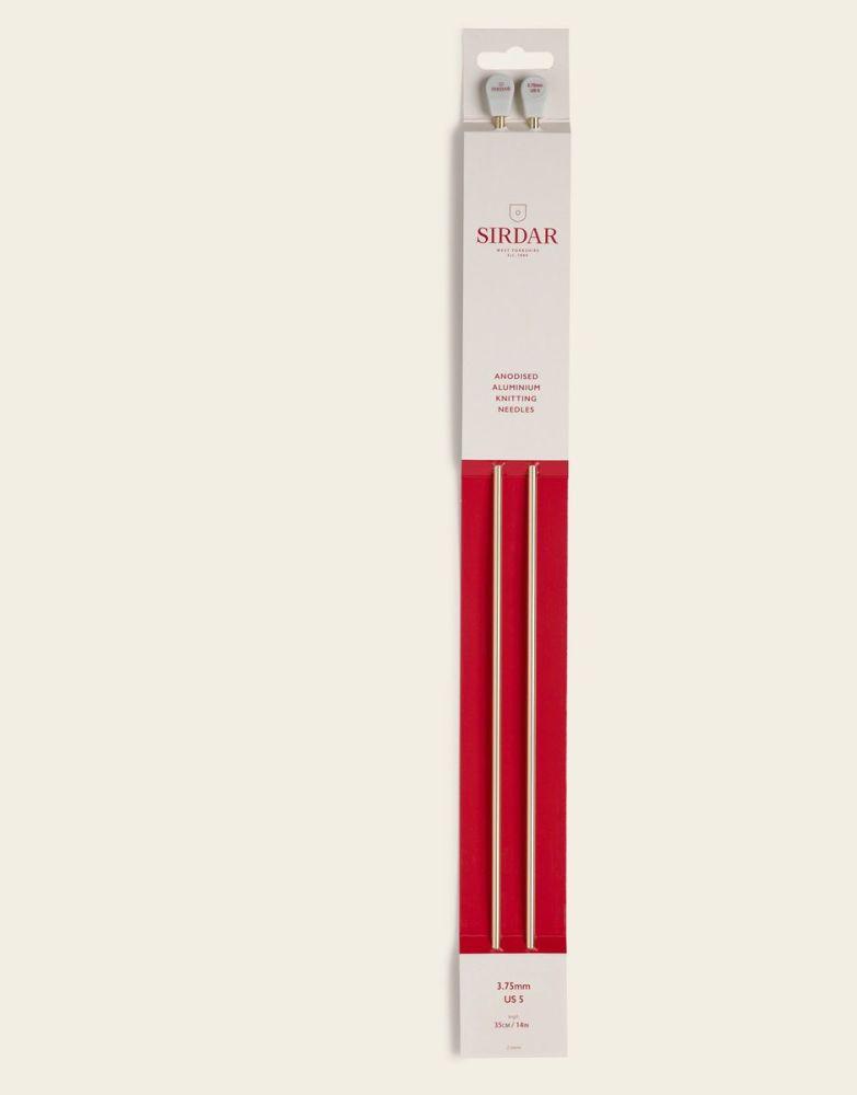Sirdar Anodised Aluminium Knitting Needles 35cm/3.75mm