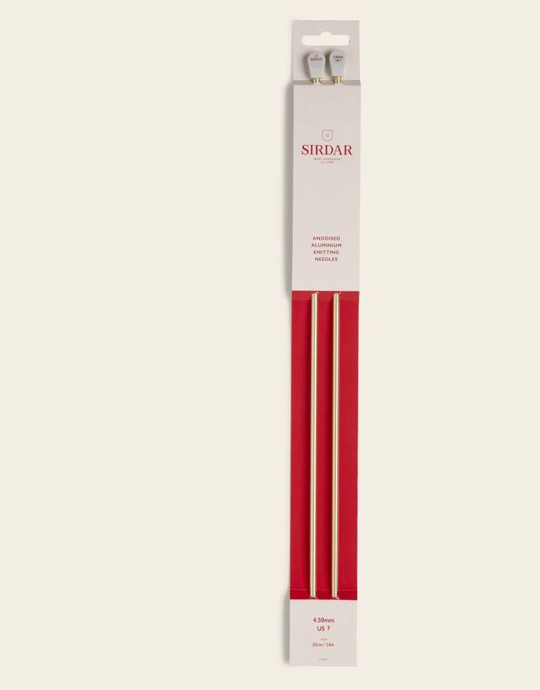 Sirdar Anodised Aluminium Knitting Needles 35cm/4.50mm