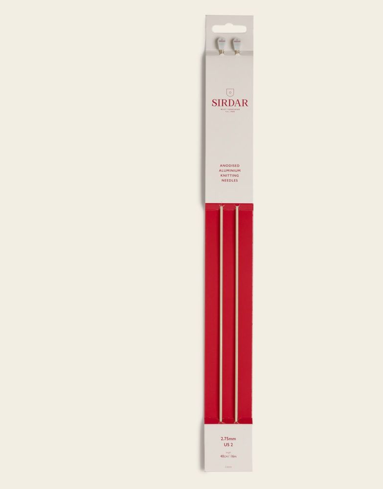 Sirdar Anodised Aluminium Knitting Needles 40cm/2.50mm