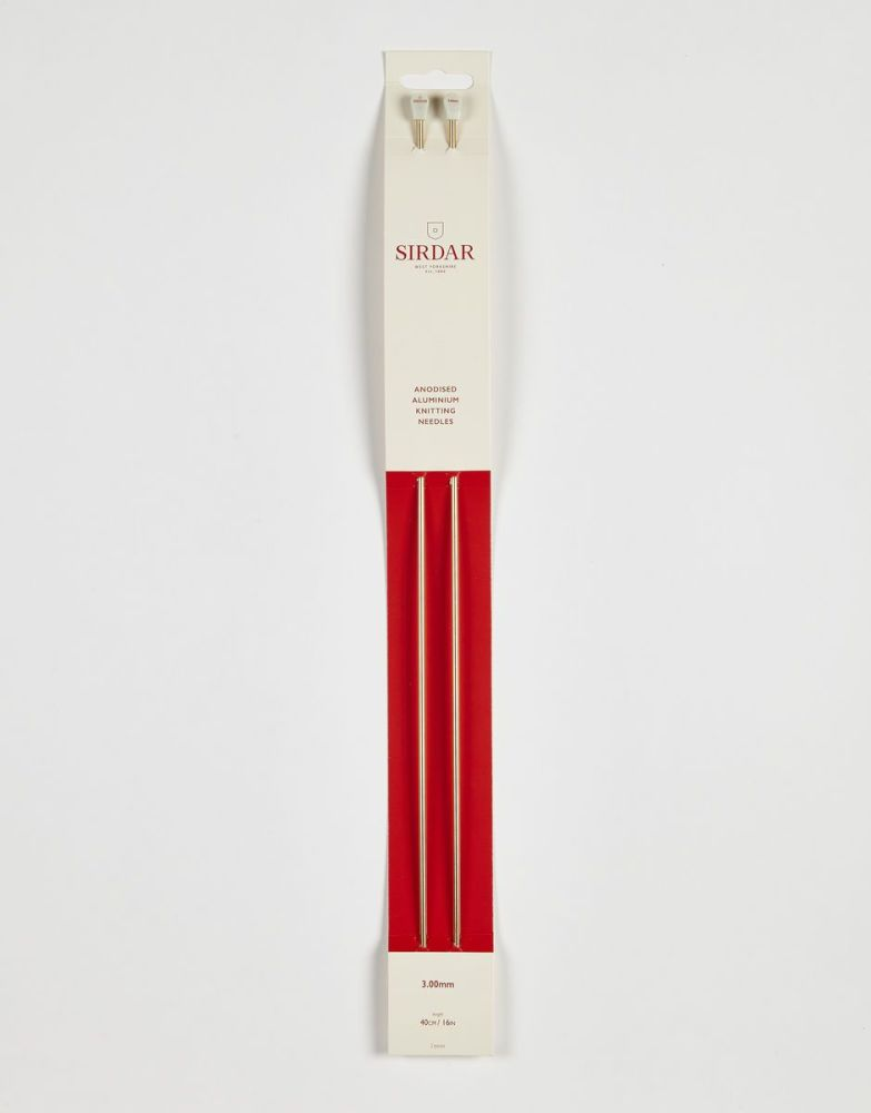 Sirdar Anodised Aluminium Knitting Needles 40cm/3.00mm