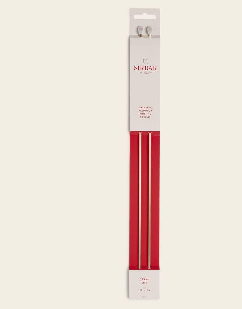 Sirdar Anodised Aluminium Knitting Needles 40cm/3.25mm