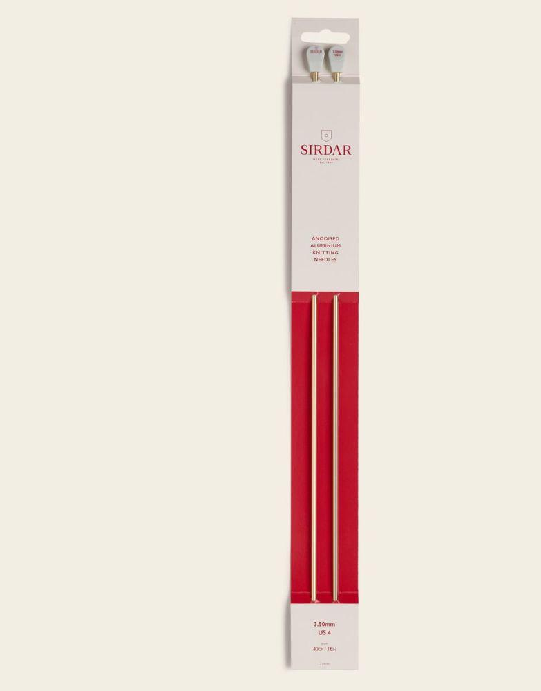 Sirdar Anodised Aluminium Knitting Needles 40cm/3.50mm