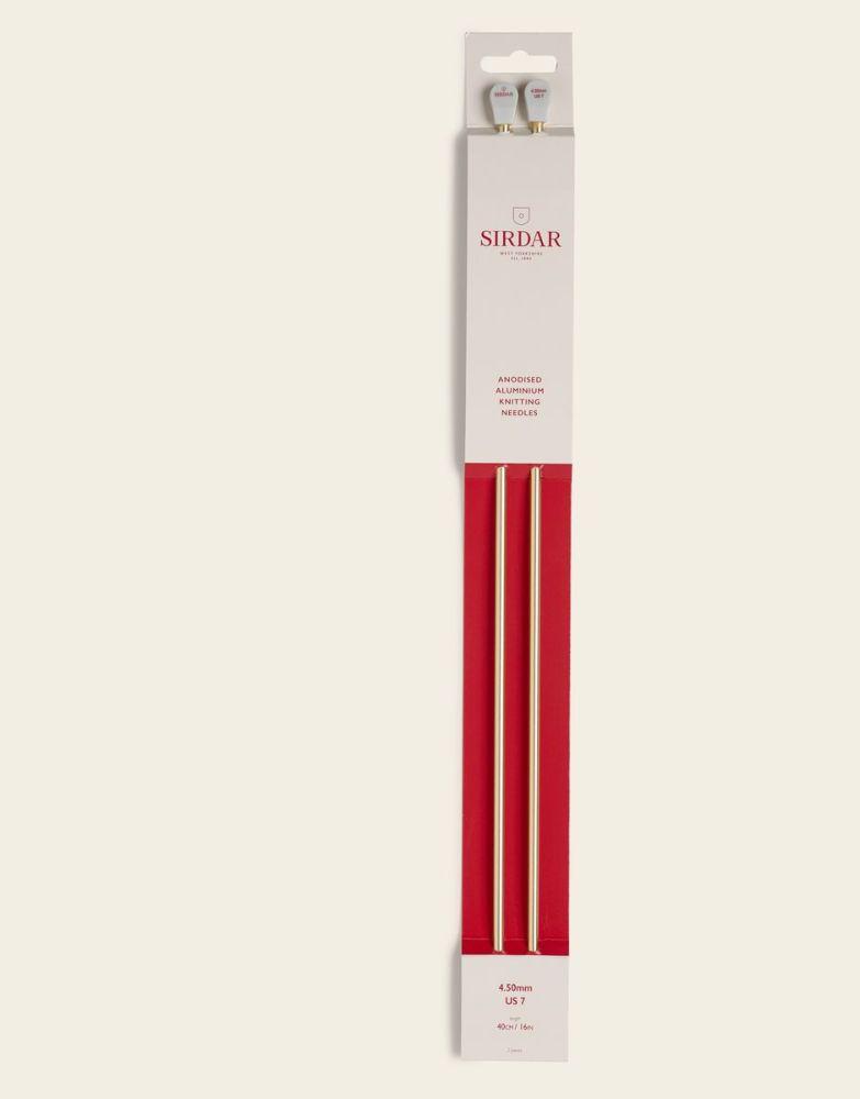 Sirdar Anodised Aluminium Knitting Needles 40cm/4.50mm