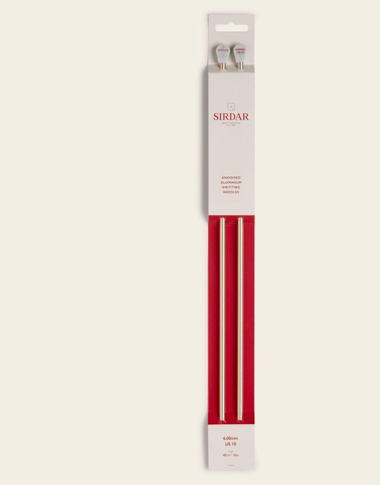 Sirdar Anodised Aluminium Knitting Needles 40cm/6.00mm