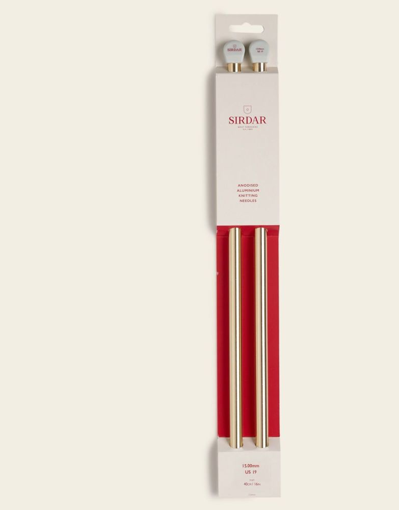 Sirdar Anodised Aluminium Knitting Needles 40cm/15.00mm