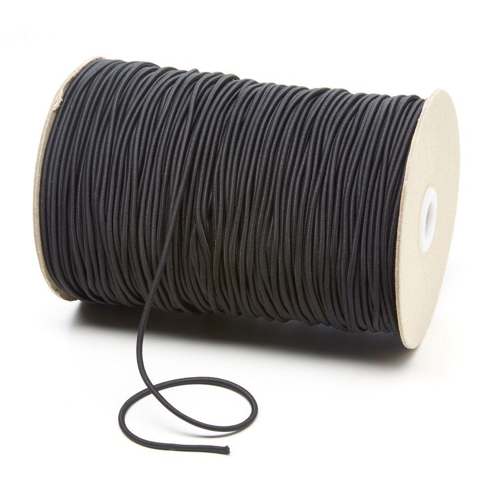 3mm Black cord Elastic