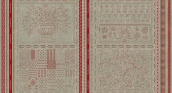 Moda French General 100% Linen Panel  - Offer all 4 panels