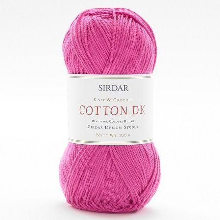 Sirdar - Cotton DK - 100g - 511 Hot Pink