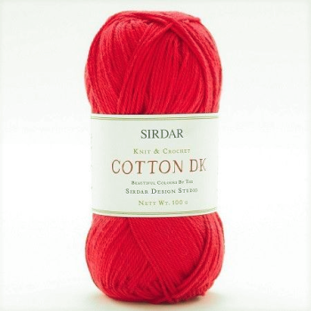 Sirdar - Cotton DK - 100g - 510 Galore Red