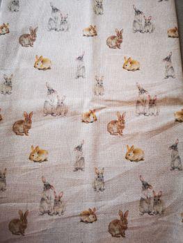 Baby Bunnies Linen Fabric